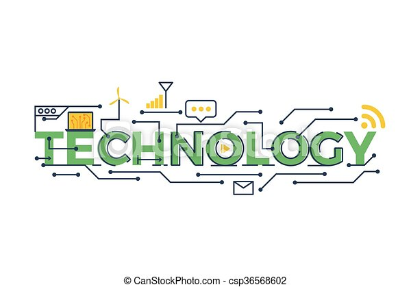 technology word illustration illustration of technology word in rh canstockphoto com technology clipart black and white technology clipart background