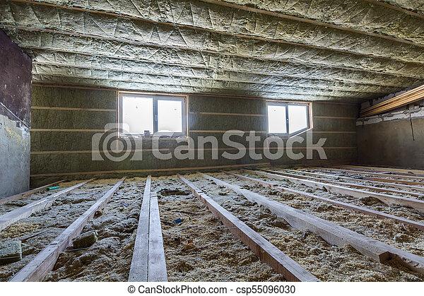 Techo, barrera, ático, marco de la casa, material, fibra de... fotos ...