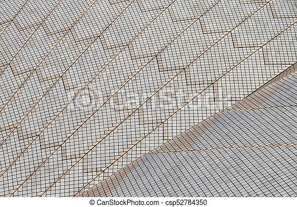 Textura de fondo de un techo de cerámica - csp52784350