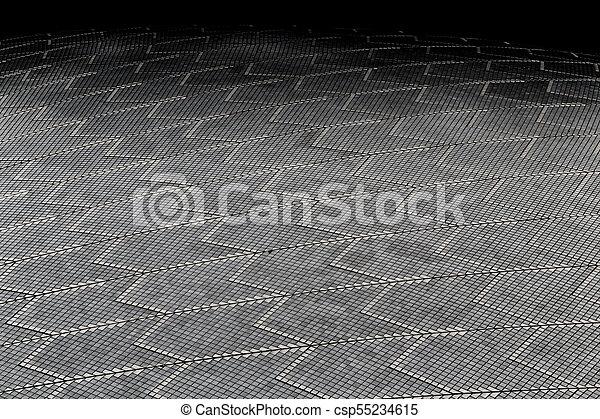 Textura de fondo de un techo de cerámica - csp55234615