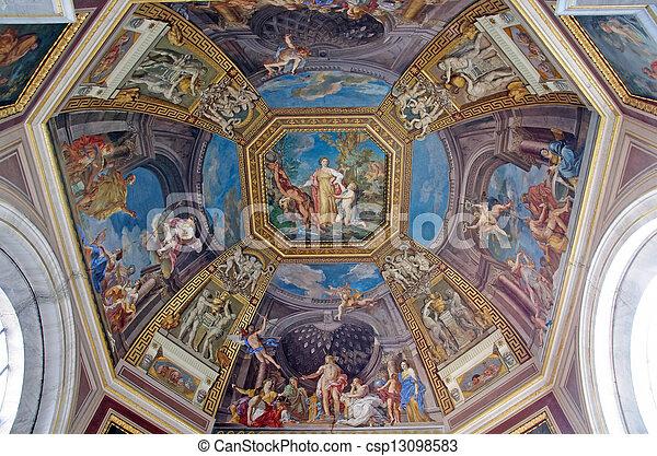 Ceiling in vatican museo - csp13098583