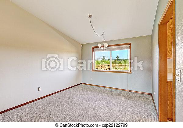 Habitación vacía con techo acorazado - csp22122799