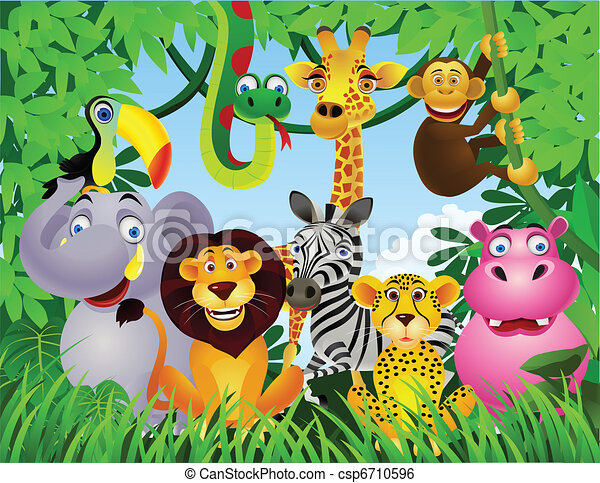 tecknad film, djur - csp6710596