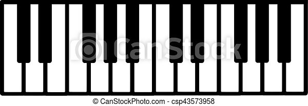 teclado del piano - csp43573958