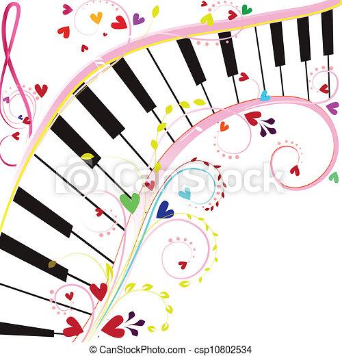 Teclado de piano - csp10802534