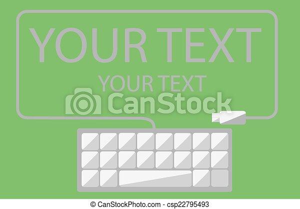 Antecedentes, teclado y cable - csp22795493