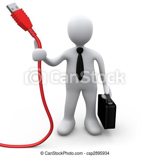 Tecnología en los negocios - csp2895934
