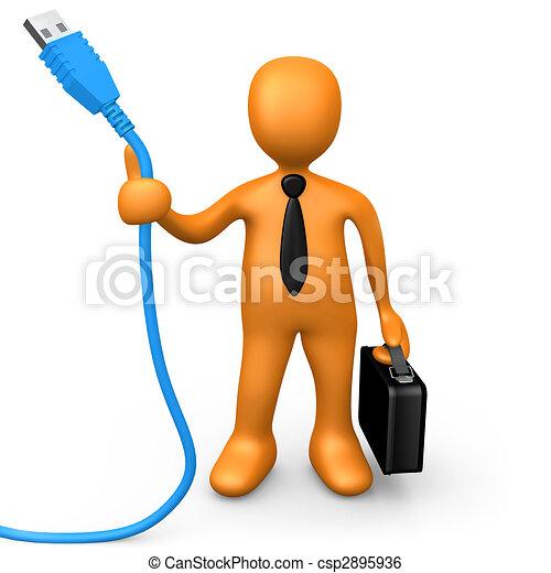 Tecnología en los negocios - csp2895936