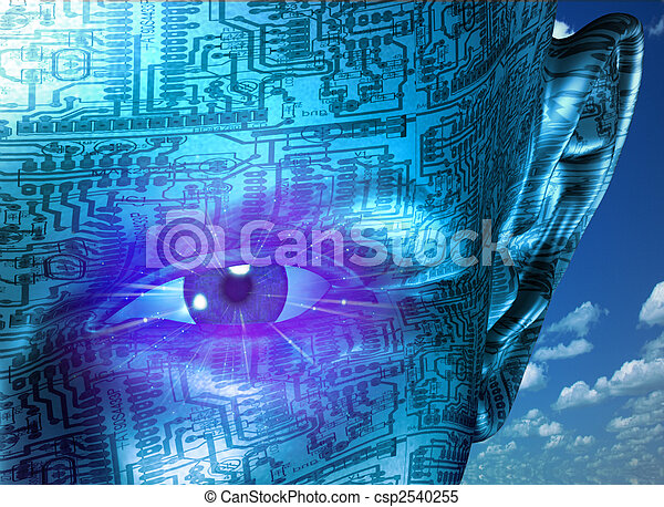 tecnología, humano - csp2540255