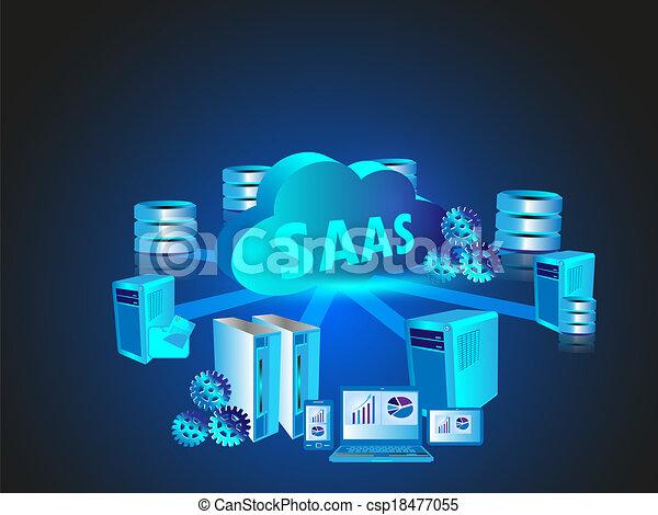 tecnología, red, nube, informática - csp18477055