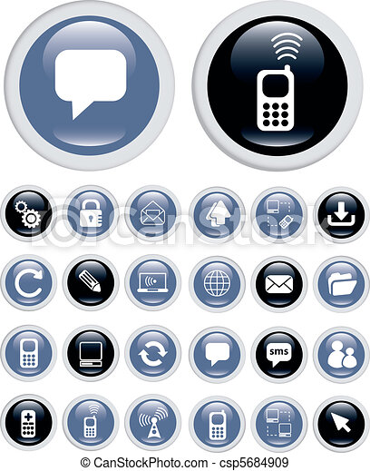 tecnologia, ícones negócio - csp5684909