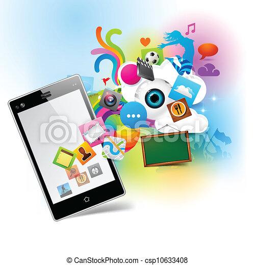 tecnologia, colorido - csp10633408