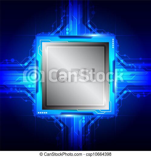tecnologia computador, processador - csp10664398