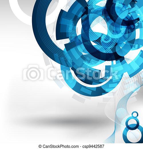 tecnologia, disegno astratto - csp9442587