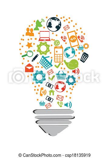 tecnologia, disegno - csp18135919