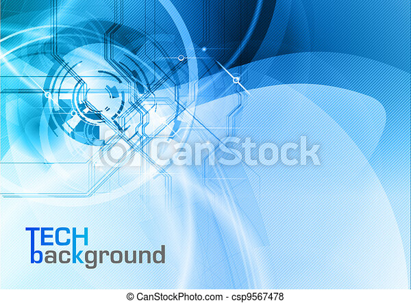 tecnologia, fondo - csp9567478