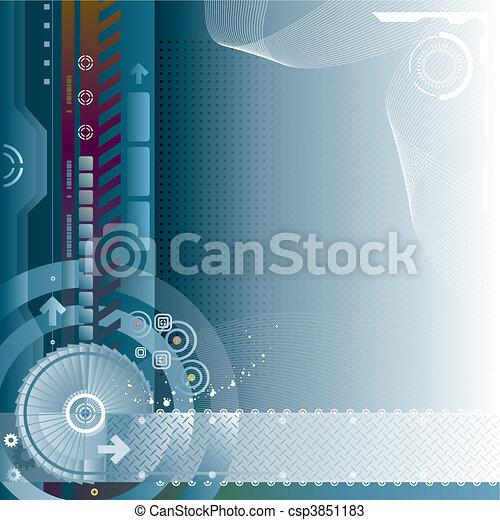 tecnologia, fundo - csp3851183