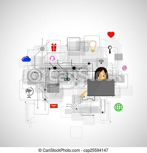 tecnologia, internet - csp25594147