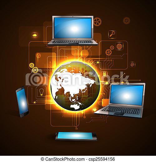 tecnologia, internet - csp25594156