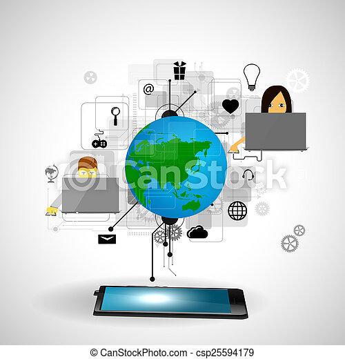 tecnologia, internet - csp25594179