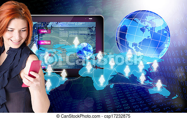 tecnologia, internet.connect - csp17232875