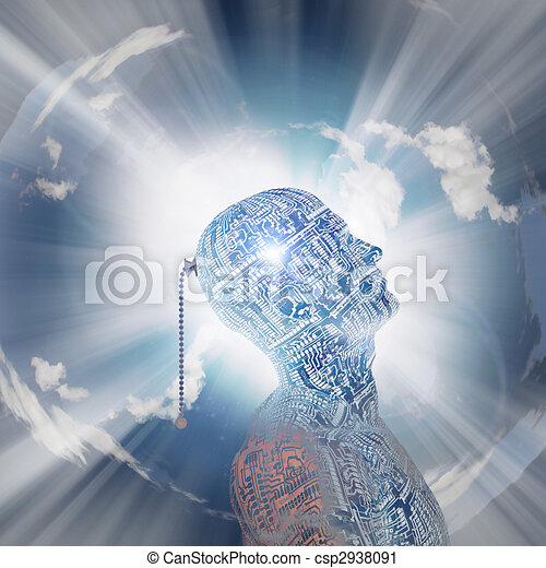 tecnologia, mente - csp2938091