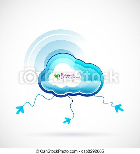 tecnologia, nuvem - csp8292665