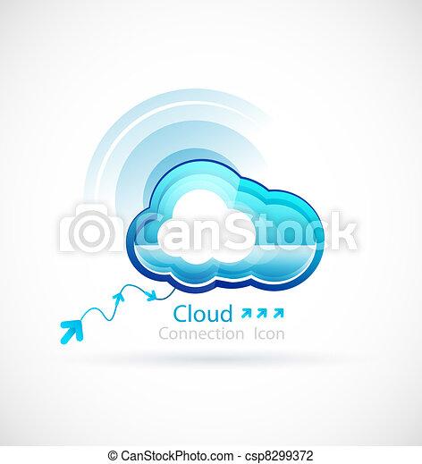tecnologia, nuvola - csp8299372