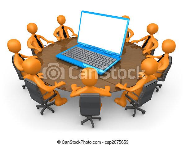 tecnologia, riunione - csp2075653