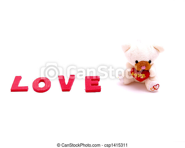teddy, amour, ours - csp1415311