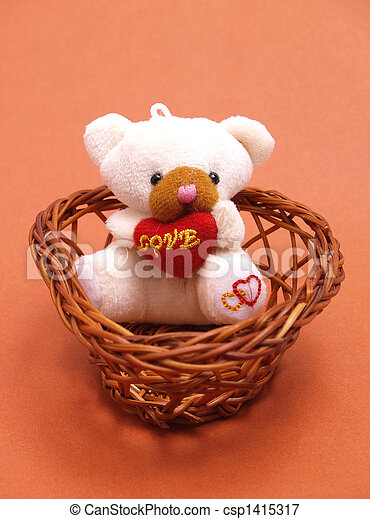 teddy, amour, ours - csp1415317