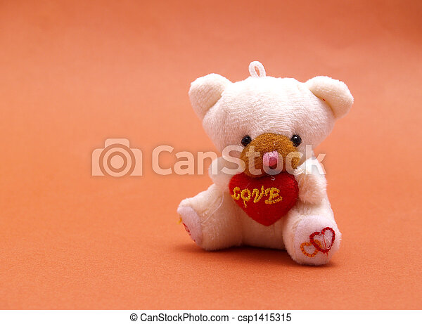 teddy, amour, ours - csp1415315