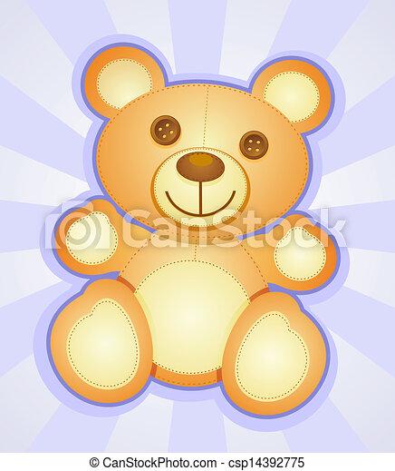 Teddy Bear Cartoon Character - csp14392775