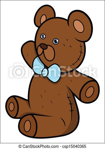 Teddy Bear - Cartoon Vector - csp15040365