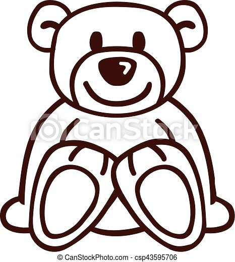 Teddy bear drawing teddy bear drawing csp43595706 altavistaventures Image collections