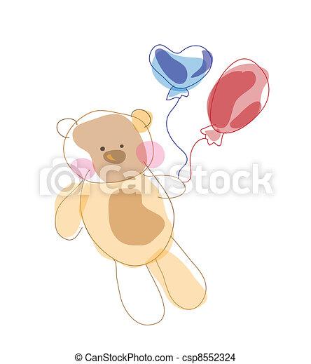 Teddy bear - csp8552324