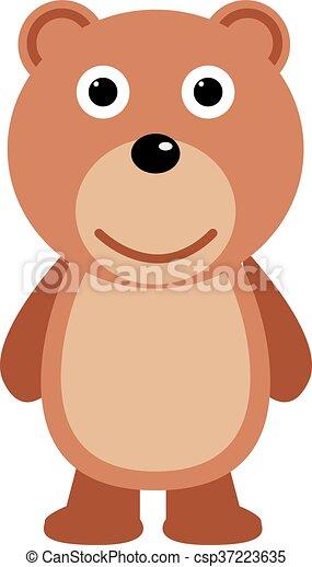 teddy bear flat icon vectors search clip art illustration