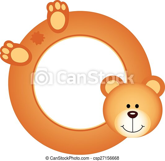 Teddy bear frame. Scalable vectorial image representing a teddy bear ...