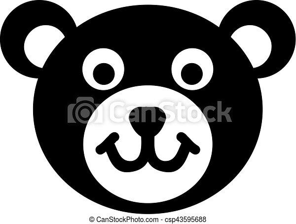 Teddy bear head icon - csp43595688