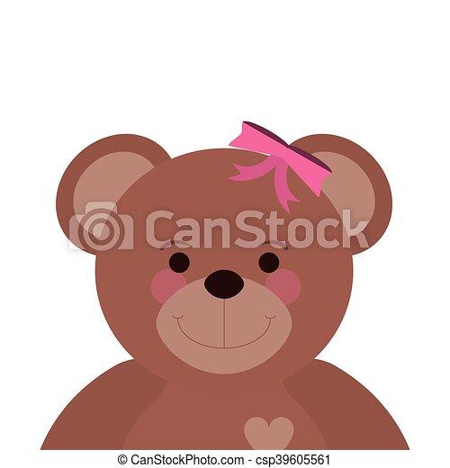teddy bear icon - csp39605561