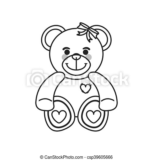 teddy bear icon - csp39605666