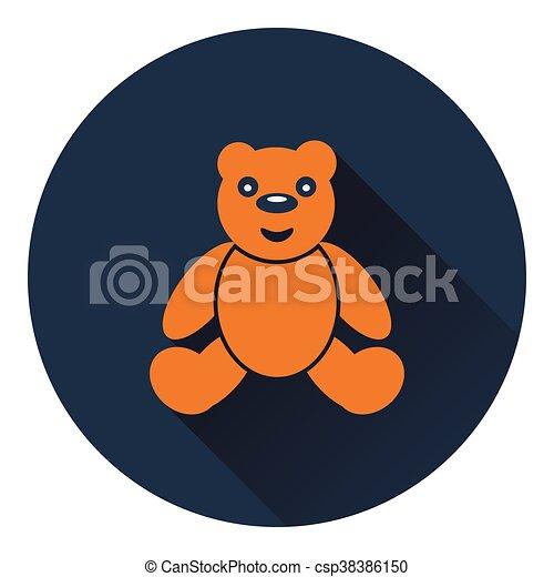 Teddy bear icon - csp38386150