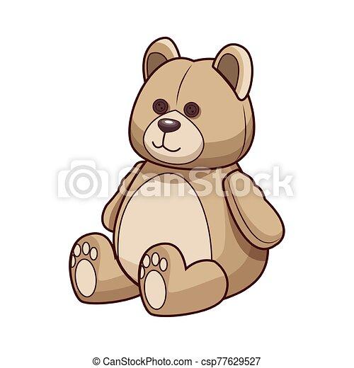 teddy bear icon, colorful design - csp77629527