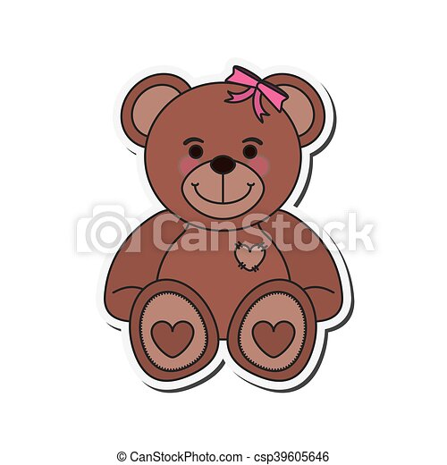 teddy bear icon - csp39605646