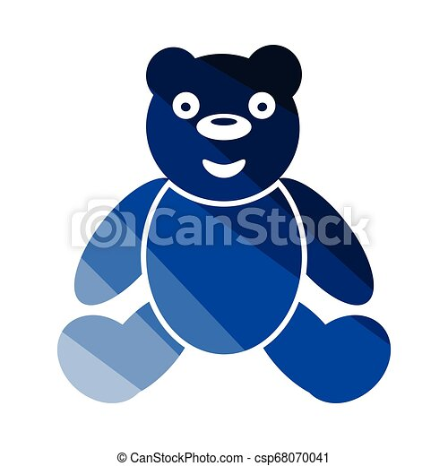 teddy bear icon flat color design vector illustration can stock photo
