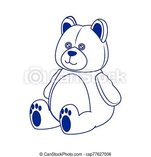 teddy bear icon, flat design - csp77627006