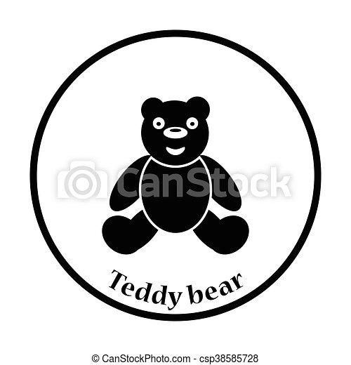 Teddy bear icon - csp38585728