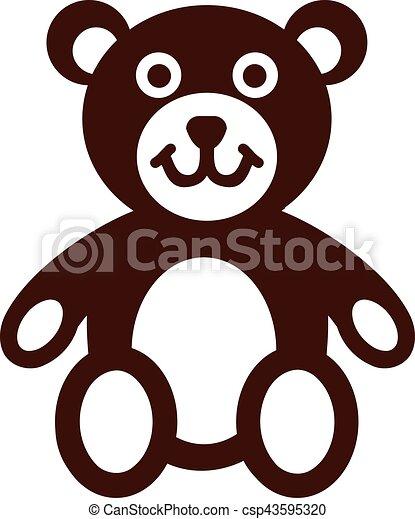 Teddy bear icon - csp43595320