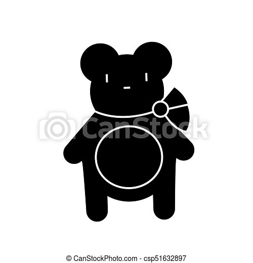 teddy bear icon vector illustration sign on isolated background teddy bear icon vector illustration black sign on can stock photo