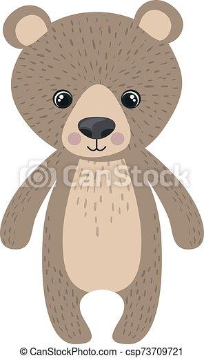 Teddy bear, illustration, vector on white background. - csp73709721